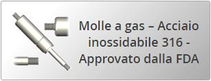 Molle a gas – Acciaio inossidabile 316