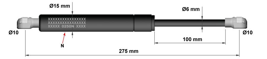Molle a gas per porte da cucina - Modello 1b