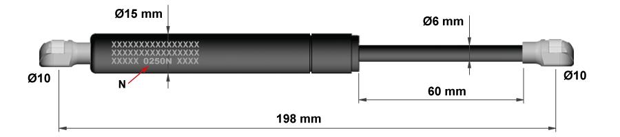 Molle a gas per porte da cucina - Modello 1a