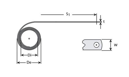 Molla a forza costante - Disegno tecnico