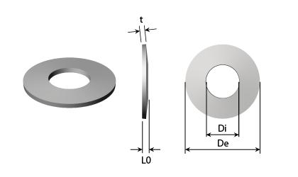 Disegno tecnico - Molle a tazza - Acciaio inossidabile