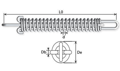 Disegno tecnico - Molle per ormeggio