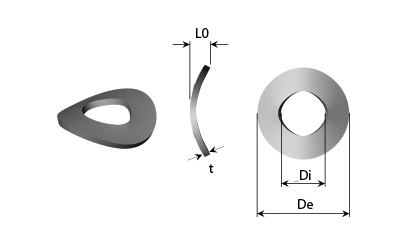 Disegno tecnico - Rondelle arcuate