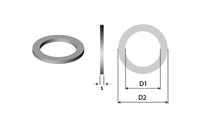 Disegno tecnico - Rondelle piane & Rasamenti